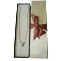 Fancy Girly Velvet Silver Storage Necklace Caja de papel