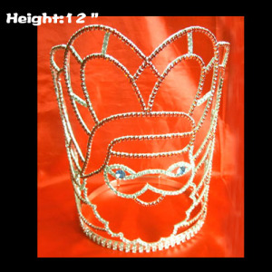 12in Heigth Crystal Santa Claus Pageant Crowns Christmas Crowns