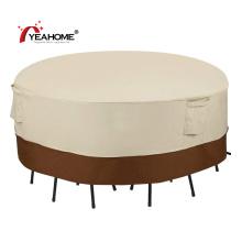 Cobertura de mesa e cadeiras 100% impermeável anti-UV ao ar livre redonda cobertura de móveis