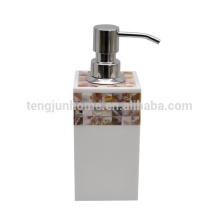 Rio de Canosa Mãe da pérola shell mosaico banheiro garrafa bomba dispensador