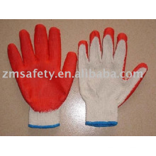 Экономической латекса покрытием перчатки хлопка работая