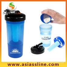 Proteínas gimnasio coctelera, botella de la coctelera de logotipo personalizado deporte actividad