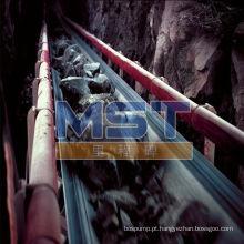 Correia transportadora de mina de carvão usada na mineração