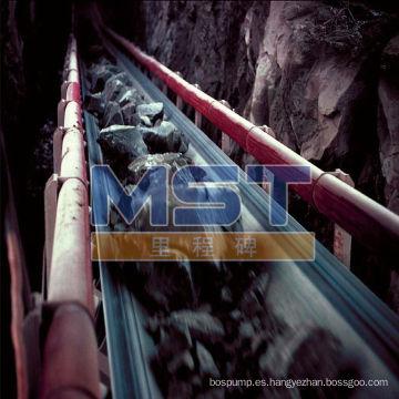 Cinta transportadora de la mina de carbón utilizada en la minería