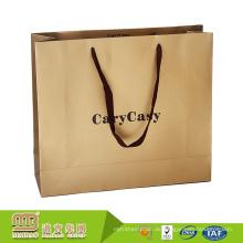 Billiger Wholsale kundengebundener Logo-Offsetdruck-Einkaufsverpackung Oem-Papiertüte-Hersteller