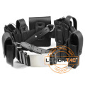 Leather Tactical Belt with Pouches with Leather Material