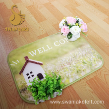 Customized Flowers And Birds Pattern Bath Mat Custom Size Bath Mat