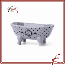 best fashion gray color ceramic soap dish