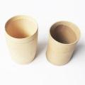 Taça de bambu com etiqueta personalizada