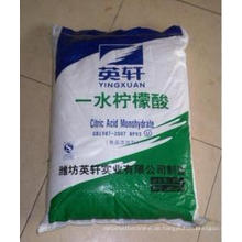 2015 Heißer Verkaufs-Zitronensäure-Monohydrat-Nahrungsmittelgrad-Lieferanten
