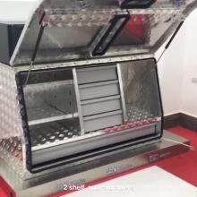 Alta qualidade Twin T-locks caixa de ferramentas checkerplate de alumínio polido