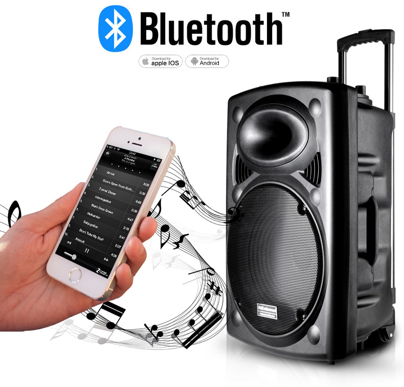 Bluetooth pull rod speaker