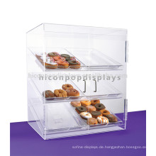 Free Design Counter Top Lebensmittel Marke Store Acryl 3-Layer Cookie Kuchen und Schokolade Display Fall
