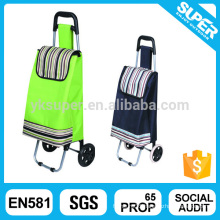 Polyester Material and Folding Style foldable trolley bag