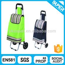 Material de poliéster e saco de carrinho dobrável de estilo dobrável