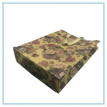 Kraft paper gift shopping bag for flower