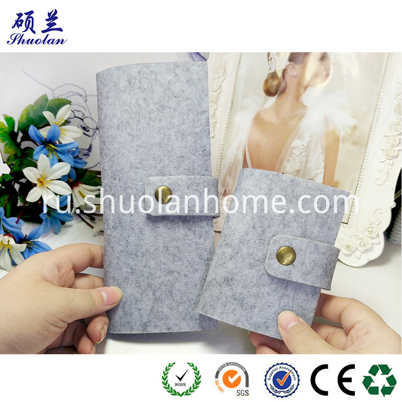 Customized Color Felt Card Holder