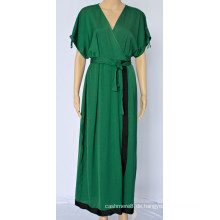 Damen Temperament V-Ausschnitt Kleid