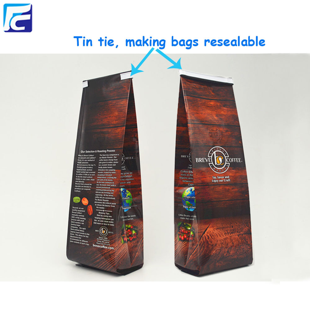 Coffee Packaging Bag with Tin tie