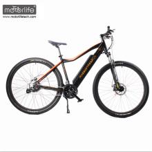 Venda quente 26 '' BAFANG mid drive bicicleta elétrica barata com bateria escondida, bicicleta de montanha elétrica de energia verde da china