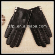 2013 winter sheepskin buttons adorn leather gloves