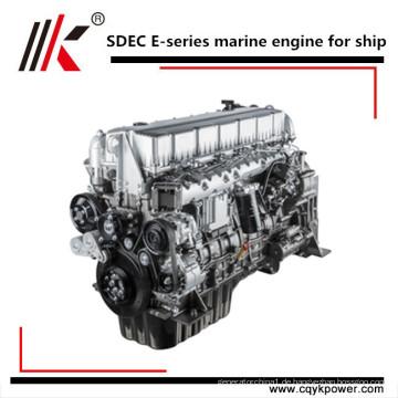 Kleine Marine Innenborddieselmotor wassergekühlte 4 Zylinder High Speed Bootsmotor, Schiffsdieselmotor mit Getriebe