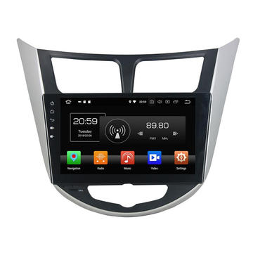 android 8.0 car audio Verna 2011-2012