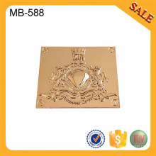 MB588 Supply logo metal labels,handbag logo label custom,brand nameplate logo