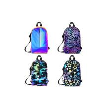 Hi Vis Night Glow Running Reflective Crossbody Backpack Sling Bag for Ladies Men Women