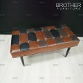 Upholstered bench stools manufacturer leather long bench chair