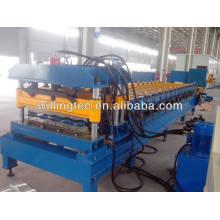 Azulejo de hormigón metálico que hace la máquina para el corte de tejas