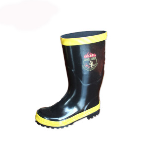 High Quality Rubber Boots for Fireman with Printing