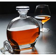 Crystal glass whisky bottle