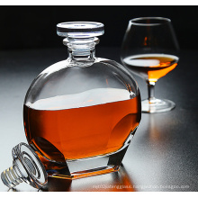 Crystal glass whisky bottle