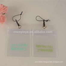 transparent cheap price pvc id card holder