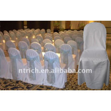 polyester chair cover,CT480 white color,banquet chair cover,200GSM best quality