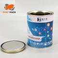 1 Quart (1L) runde Metallfarbdosen mit Stopfen