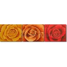 Pintura a óleo popular popular do rosa do projeto novo (FL3-214)