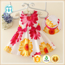 2016 el nuevo color de la ropa de los niños Vestido de la princesa Vestido de la muchacha de 3 años de la ropa del sol del día de fiesta