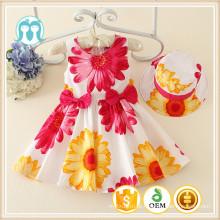 2016 a cor das roupas novas crianças vestido de princesa 3 anos de idade menina vestido férias roupas de sol