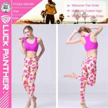 Collants de yoga imprimés par Sublimation anti-UV étirés en gros pour des femmes