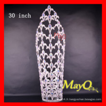 30 '' Large Tall Ab Crystal Wedding Round Pageant Crown