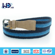 2014 Fashion blue cotton braided belts for men
