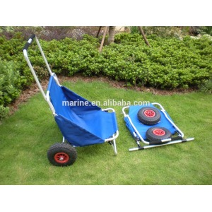 Aluminum cart, Beach accessories trolley, Anodized frame fishing trailer