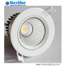 Iluminação de loja de LED 25W 15/24/38/60 grau COB LED Downlight