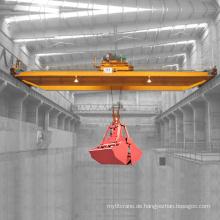 20 Tonnen-QZ-Modell-Grab-Eimer-Laufkran mit Greifer-Eimer mit zwei Kiefer-vier Seil für das Handhaben des Massenmaterials