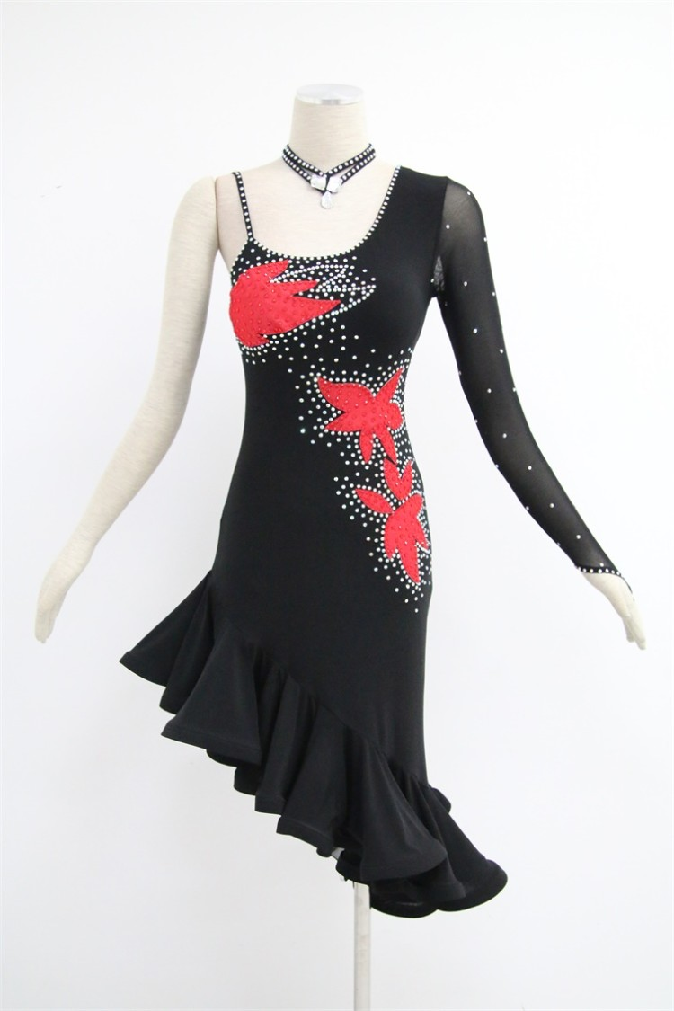 Black Ballroom Latin Dresses