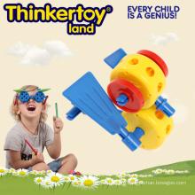 Симпатичные животные модели DIY игрушки Лучший подарок для детей Gear блоков игрушки