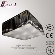 Lampe de plafond rectangulaire en cristal de fournisseur chinois de salon
