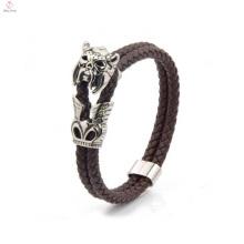Última pulseira de couro artesanal personalizado para homens